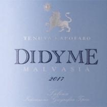 Didyme Malvasia 2017 Tasca d'Almerita lt.0,75