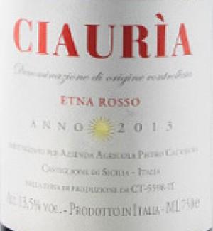 Ciauria Etna Rosso DOC Tenute Pietro Caciorgna 2014 lt.0,75